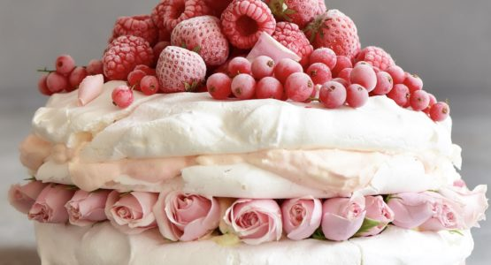 Strawberry and Almond Pavlova